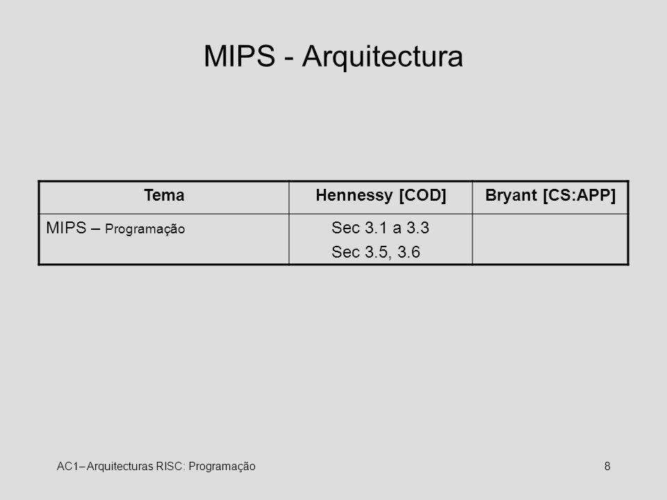 MIPS - Arquitectura Tema Hennessy [COD] Bryant [CS:APP]